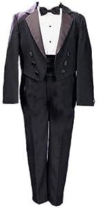 Ring Bearer Boys Tuxedo - Black