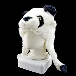 Plush Panda Animal Hat/Cap with Poms