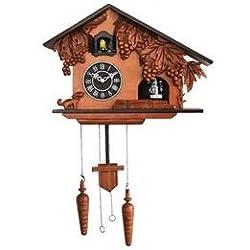 Hand Carved Satinwood Cuckoo Wall Clock