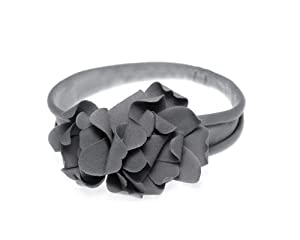 BONAMART ® Fashion Vintage Crochet Baby Girl Boy Flower Hair bands Headband Bows Headwear Pattern Grey Gray