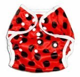 One Size Fit All- Diaper Covers for Prefolds or Regular Inserts PUL - LADYBUG