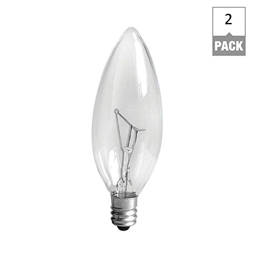 GE Candelabra Base Light Bulb, 40 Watts, (Pack Of 2) (Lightbulb Type B compare prices)