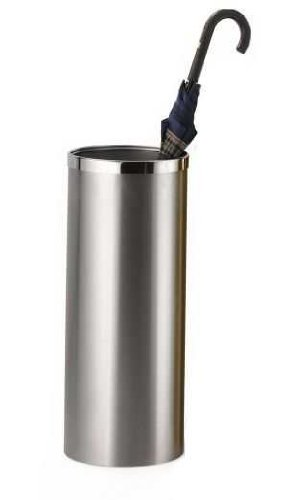 Brelso 20-Inch Umbrella Stand With Removable Inner Bin, Brushed Stainless Steel