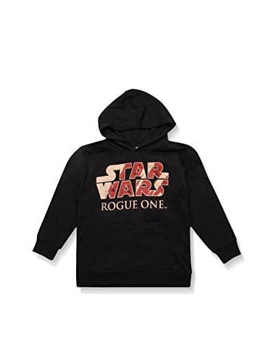 Star Wars Sudadera con Capucha Rogue One Logo Negro