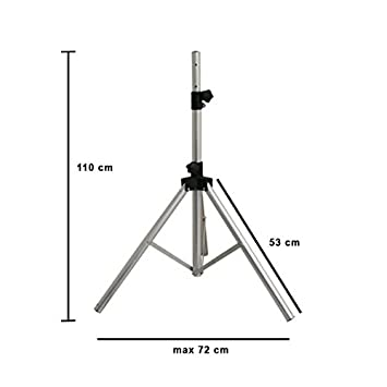 hd line tr pied pour antenne antenne parabole argent high tech z541. Black Bedroom Furniture Sets. Home Design Ideas