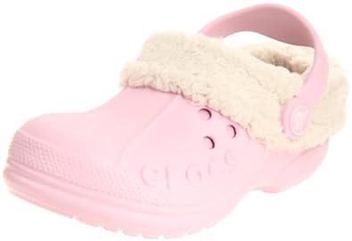 Crocs Blitzen Clog (Toddler/Little Kid),Bubblegum/Oatmeal,2 M US Little Kid/ 4 M US Women's
