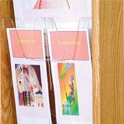 Wooden Mallet Optional Pocket Insert For Displaying Brochures in Stance Displays