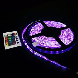 Premium Led Light Strip, 16Ft, 300 Leds, 4.5 Watt, Multi Function, Multi Color