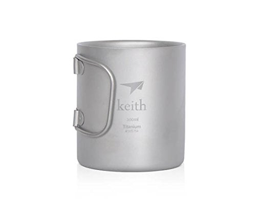 Titanium Double-Wall Mug Titanium Cup Camping Cup Only 100G 300Ml
