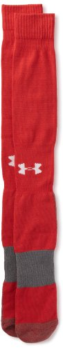 Under Armour Men's Football Over-The-Calf Socks, Red, Size Large( 9-12.5) (Red Football Socks compare prices)