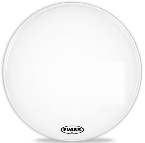 Evans Mx2 White Marching Bass Drum Head, 24 Inch