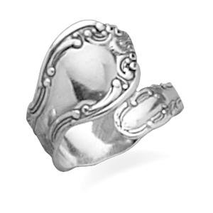 Spoon Ring Traditional Style Oxidized Sterling Silver, Made in the USA