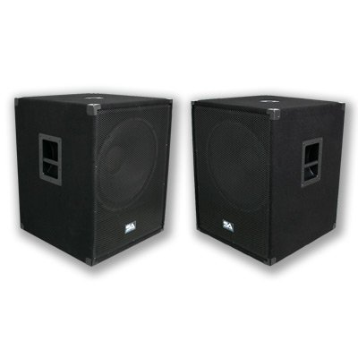 """Seismic Audio - Package - Two 18 Inch Pa Subwoofers Pro Audio Band Speaker Cabinets Sub - Band, Bar, Wedding, Karaoke, Dj, 18"""" Cabs 1000 Watts Rms"""