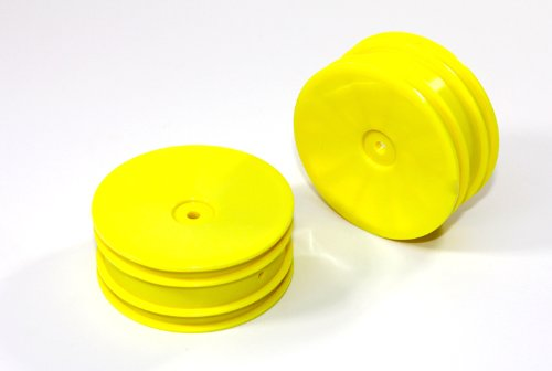 Team C Racing T02032Y Rims Front (2-Piece), Yellow - 1