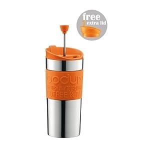 Bodum Travel Press Set Coffee Maker With Extra Lid : UK Coffee Percolator Electric: ?19.99 Bodum K11067-106 TRAVEL PRESS SET Coffee maker with extra ...