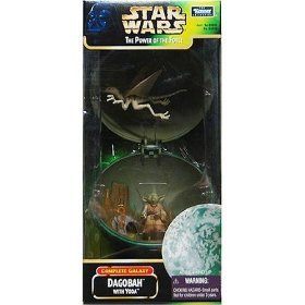 Star Wars Power of the Force Complete Galaxy Dagobah with Yoda Action Figure By Kenner