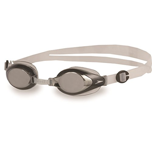 Speedo Mariner Mir Gog Ju Occhiali da Nuoto, Silver/Clear, Taglia Unica
