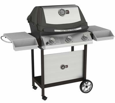 Ultra Chef U405 Gas Grill on Cart Fuel: Propane