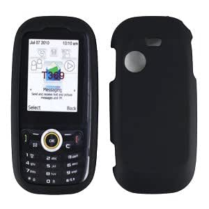 Black Rubberized Protector Case for Samsung T369