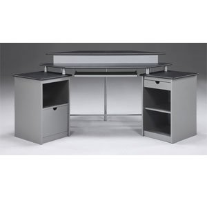Buy Low Price Comfortable Office Star Products Saturn Corner Computer Desk PVC Veneer – Black (B001UM4LNO)