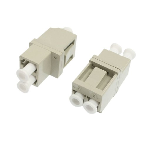 2Pcs Gray Shell Mm Flanged Duplex Fiber Optic Connector Lc To Lc