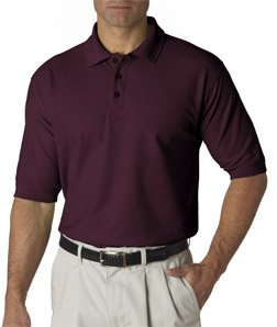 Men 39 s whisper pique polo shirt color wine size medium for Wine colored mens dress shirts