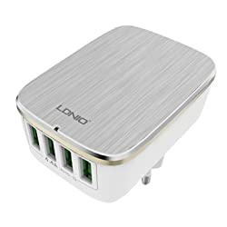 """Tartarusâ""""¢Premium Quality LDNIO 4 Ports Auto ID USB Rapid charger for iPhone, Samsung, 5V 7A/ A6704."""