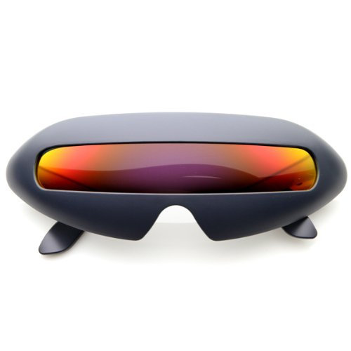 Futuristic glasses, futuristic Shield Single Lens, futuristic  Sunglasses, Cyclops  Sunglasses, Oval Party Novelty Cyclops, Costume Wrap Sunglasses