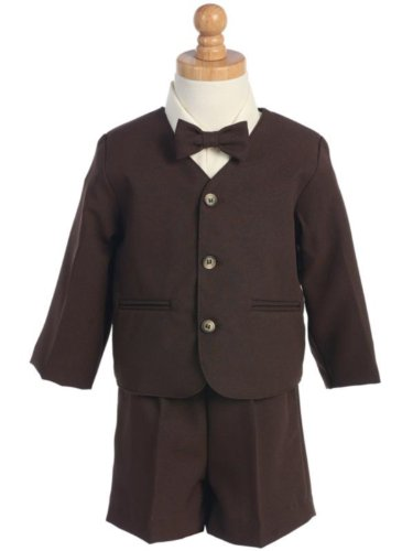 G-8161B-2T -Eton Suit-Brown- Jacket, Shorts, Shirt, Tie- Made In Usa
