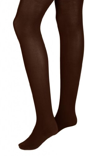 Intimate Portal Women Adjustable Maternity Opaque Tights Dark Brown
