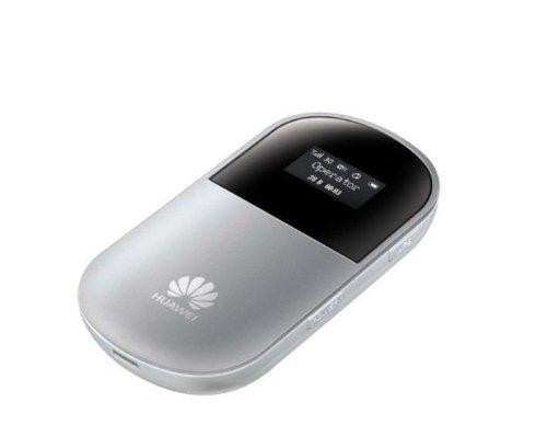 Huawei 新モデル E586 モバイル WIFI ルーター下り最大21Mbps Mobile WiFi (SIM フリー 版) (シルバー色)