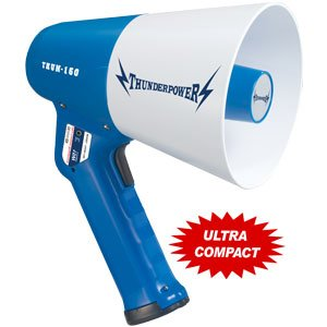 Compact Megaphone - ThunderPower 150 - 15 Watts of Power by ThunderPower