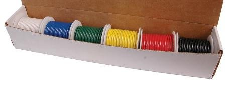 Hook-Up Wire Dispenser Kit Box With Six 25Ft Spools Of 20Awg Wire New Condition