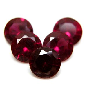 Round 4mm Synthetic Red Ruby #5 Loose Gemstone Lot of 50 pieces