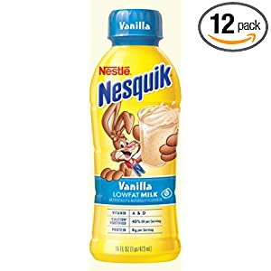 Nestle Nesquik Ready To Drink Vanilla Milk, 1% Milkfat, Shelf Stable