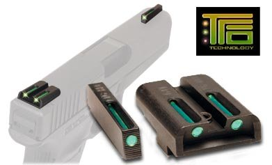 Truglo Fiber Optic Handgun Sight Set - Glock