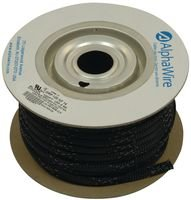 Alpha Wire - G120nf14 Bk005 - Sleeving, Expandable, 3.962mm, Blk/wht Trac, 100ft