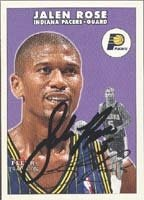 Jalen Rose Indiana Pacers 2001 Fleer Tradition Autographed Hand Signed Trading Card. by Hall+of+Fame+Memorabilia