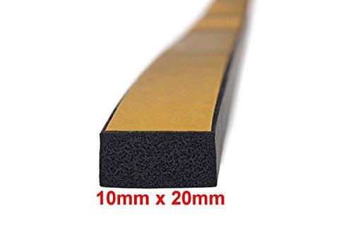 5m-Moosgummidichtung-Vierkantprofil-selbstklebend-10mm-x-20mm-Schwarz-MVS-501020