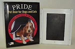 PRIDE PET DOOR DELUXE SMALL ANODIZED 5X7.125