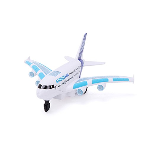 Granvela Rd800017 Airbus A380 Aircraft Toy Electric Light Music Four Through Remote Control Aircraftt