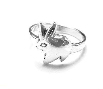 Bunny Rabbit Toddler Child Kids Sterling Silver Ring Size 3(Sizes 1,2,3,4)