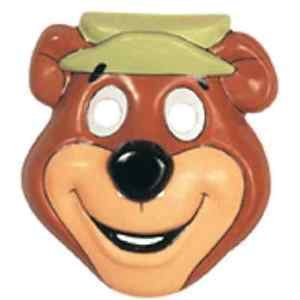 [Yogi Bear PVC Mask Cartoon Hanna Barbera Fancy Dress Halloween Costume Accessory] (Yogi Bear Halloween Costume)