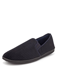 Freshfeet™ Slip-On Striped Slippers with Silver Technology