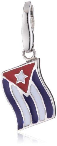 Giorgio Martello Charm Silver 568-808719 Lucky Flag Cuba