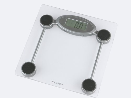 Hanson Hx5000 Elec Slim Bathroom Scale Clear