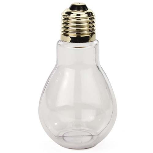 Creative Hobbies® Clear Plastic Fillable Light Bulbs, Great for Candy, Weddings or Crafts, 4 Inch Tall, Case Pack of 24 (Plastic Fillable Light Bulbs compare prices)
