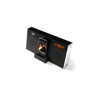Altec Lansing M402Sr Moondance Glow Speaker System With Clock Radio, Snooze Remote, And Ipod Dock (Black)