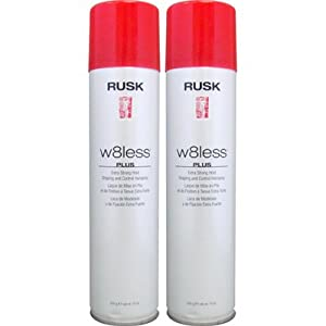 Rusk W8less Plus Extra Strong Hold Shaping and Control Hairspray - 2 pk.
