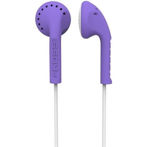 Koss-Headphones Ke10V Violet Stereo Earbuds Slim - Contour Design Soft Rubber Body (Koss Ke10V)